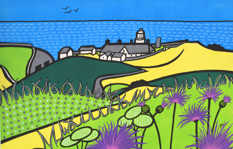 Durlston meadows  by Gina Marshall